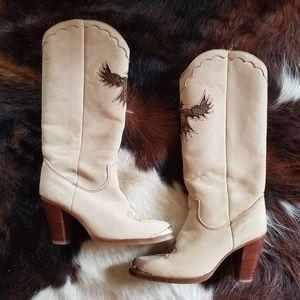 Zodiac Phoenix Feather Boots | Vintage | 8M